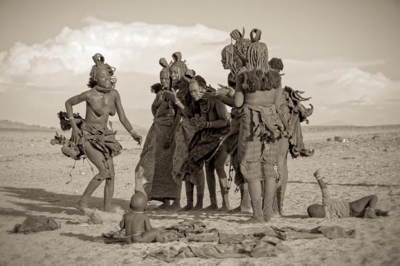 Himba Dance Monochrome © Marja Schwartz
