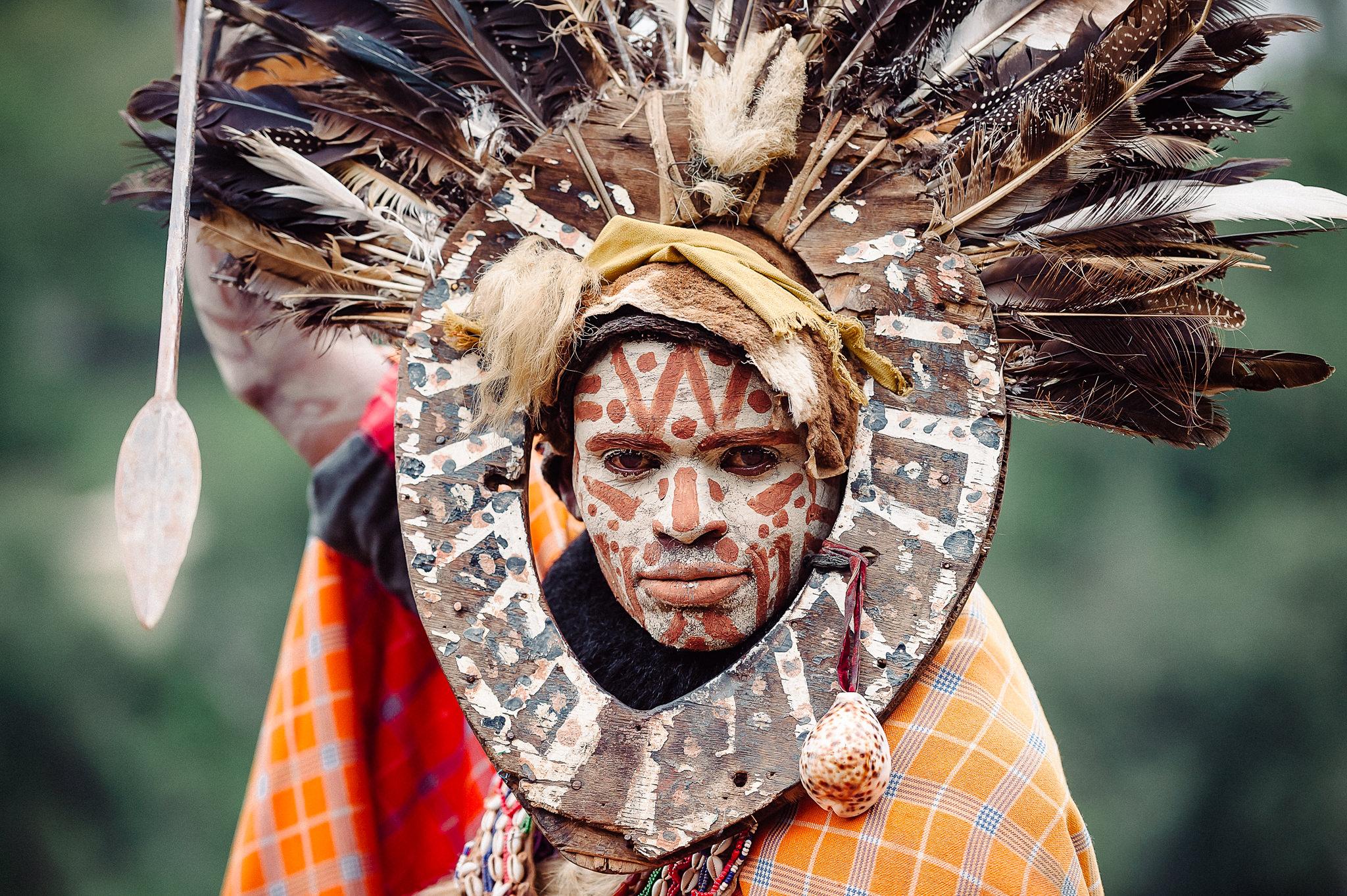 Kikuyu Tribesman © Marja Schwartz