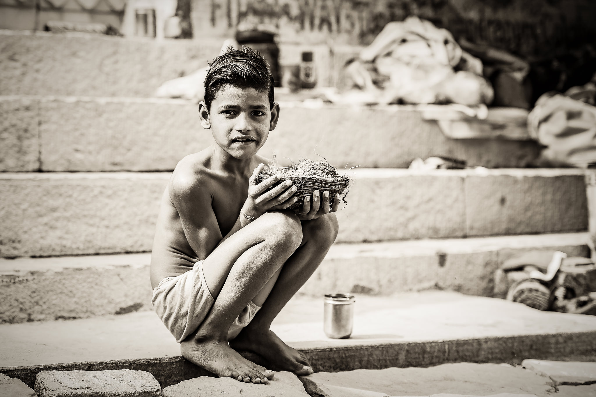 Hindu-Boy-Offering