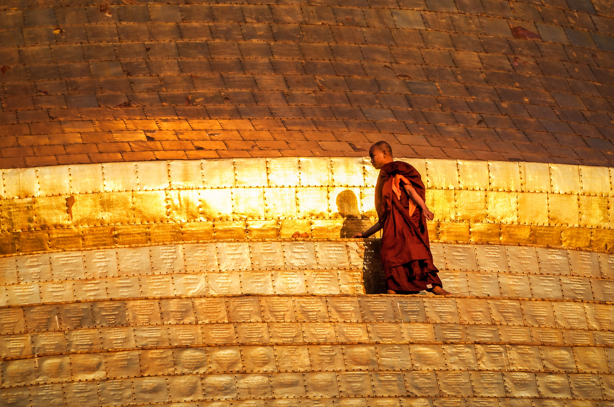 Monk on Golden Pagoda
