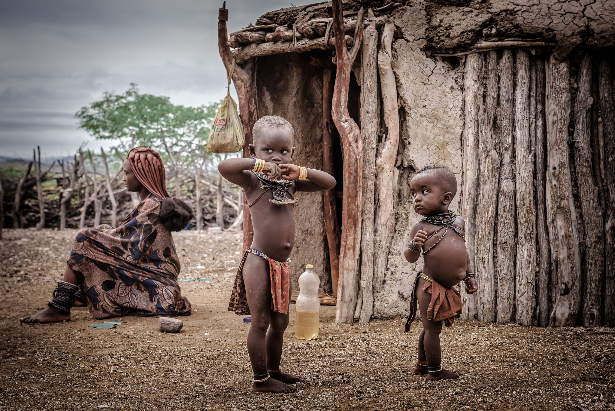 Traditional Himba Family